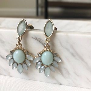 No Brand   Gold + Turquoise Drop Earrings